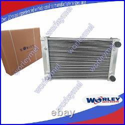 2 Row Aluminum Radiator for VW CORRADO SCIROCCO JETTA GOLF GTI MK2 1.8 16V 86-92