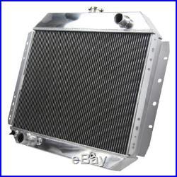 3ROW Radiateur Aluminium pour Ford F-100 F-150 F-250 F-350 Bronco V8 1966-1979