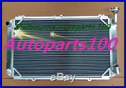 3 ROW Radiateur radiator FOR NISSAN GQ PATROL Y60 4.2L TB42 petrol 87-97 MT+FANS