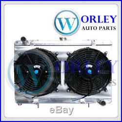 3 rows Aluminum radiator+Shroud+Fans for Nissan Silvia S13 SR20DET 1989-1994 MT