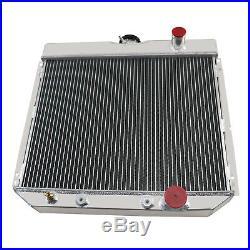 4 Rangée Aluminium Radiateur Pour Ford Mustang Cougar Falcon 1966-1970 1967 1968