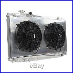 52mm Aluminium Radiateur +Carénage + Ventilateur Pour 93-98 TOYOTA SUPRA JZA8 MT