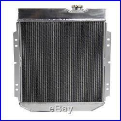 62MM 4ROW Radiateur Aluminium pour Ford Mustang 1964-1966 4.7L 5.0L V8 Auto /