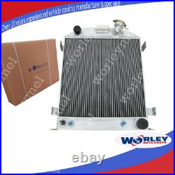 62mm 3 Row Aluminum Radiator For Ford 1932 hot rod withChevy 350 V8 engine