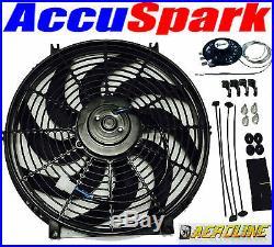 AEROLINE Voiture électrique ventilateur radiateur, universel 14 Haute Puissance