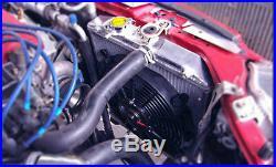 Alu Course Radiateur+Housse+Ventilateur pour Honda Civic Eg Ek Acura Integra M