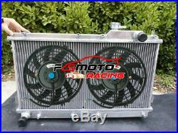 Aluminium Radiateur + FAN Pour Mazda Miata NA MX5 MX-5 1990-1997 MT 1.6L 1.8L 96