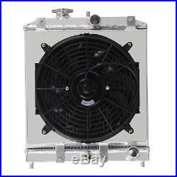 Aluminium Radiateur+Ventilateur Pour 1992-00 Honda Civic EK EG/93-97 DEL SOL
