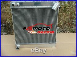 Aluminum Radiateur Pour Jaguar E-Type XKE XK-E Series1 S1 4.2L MT 1965 1966 1967