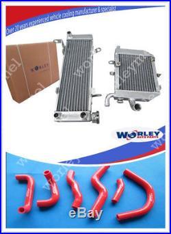 Aluminum radiator+hose HONDA RVF400 NC35 or NC30 VFR400 lower with fan bracket
