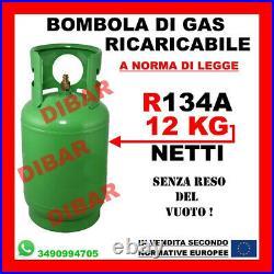 Bouteille De Gaz R134A 12KG Net Climat Rechargeable La