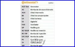 CONTITECH Kit de distribution avec pompe à eau Pour PEUGEOT 206 207 CT1063WP2