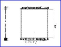 Compatible avec avec MERCEDES COUPE C123 NRF Radiateur 509576 2.9L