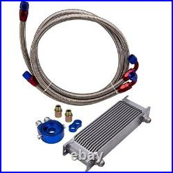 Engine Oil Cooler Kit 13 Row + Filter Adapter +10AN AN10 Oil Lines NEW Universal