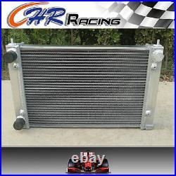 For Vw Corrado Scirocco Jetta Golf Gti Mk2 1.8 16v 86-92 Aluminum Radiator +fans