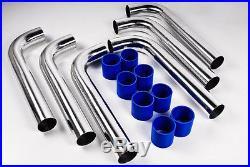 Kit De 6 Pipes Turbo Universel De 7,5cm En Acier Inoxydable Pour Intercooler