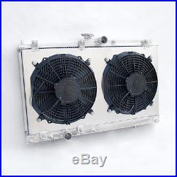 MITSUBISHI LANCER EVO 7 8 9 VII VIII X aluminium radiateur +avec carénage & fan