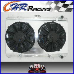 NEW FOR 52MM Nissan SILVIA S13 CA18DET CA18 aluminum radiator+shroud+fans