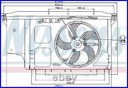 NISSENS Ventilateur refroidissement du moteur pour OPEL GRANDLAND X A18