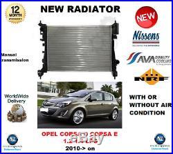 Pour Opel Corsa D E 1.2 1.4 Gpl 2010- Neuf Radiateur Moteur Qualité Fabricant