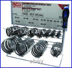 Presentoir Bgs Technic 110 Colliers De Serrage Inox Pour Durite + 1 Cle Flexible