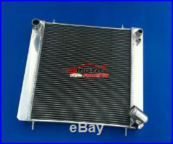 Radiateur 3 rangées en aluminium pour Jaguar XKE Série 1 S1 4.2L Manuel MT