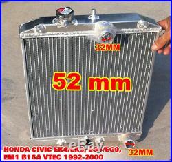 Radiateur Aluminium Honda CIVIC Ek4/ek9, Eg6/eg9, Em1 B16a Vtec 1992-2000
