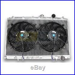 Radiateur Aluminium MITSUBISHI LANCER EVO 1 2 3 et 2 ventilateurs plats