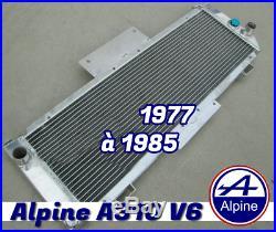 Radiateur Aluminium sport pour Alpine A310 v6 de 1977 à 1985 Top qualité Piste