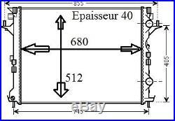 Radiateur Refroidissement Moteur PREMIUM RENAULT VELSATIS 3.0 DCI 180 2002