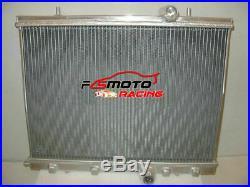 Radiateur +fan en aluminium pour Peugeot 206 2.0L GTI RC S16 Manuel MT 1999-08