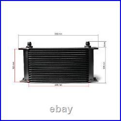 Refroidisseur dhuile noir moteur en Aluminium 19 Rangées dailettes Radiateur