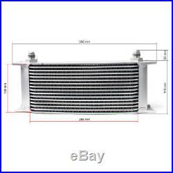 Refroidisseur dhuile pour moteur en Aluminium 16 Rangées dailettes Radiateur