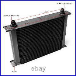 Refroidisseur dhuile pour moteur en Aluminium 28 Rangées dailettes Radiateur