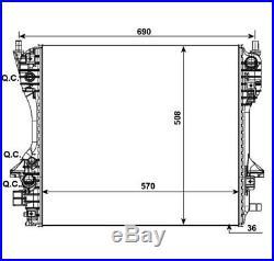 Refroidisseur du moteur d'eau JAGUAR XF & XJ 3.0 D