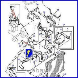 Silicone Radiateur Tuyau + Vis de purge pour Land Rover Discovery 2 TD5 Noir