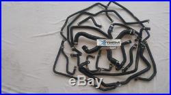 Super 5 GT Turbo 17 durites d'eau en Noir + 34 colliers inox