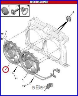 Ventilateur De Radiateur Droite Peugeot 407 607 807 2.2 Hdi 170 / 2.7 Hdi 1253k5
